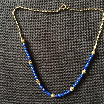 Vintage lapis lazuli necklace  - Fine Jewelry