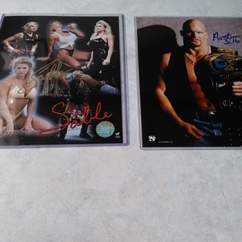 STEVE AUSTIN AND SABLE SIGNED PHOTOS - Photographs