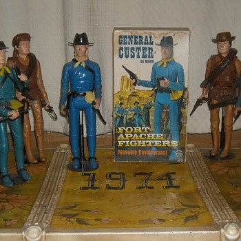 Marx General Custer 1968 Fort Apache Fighters - Toys