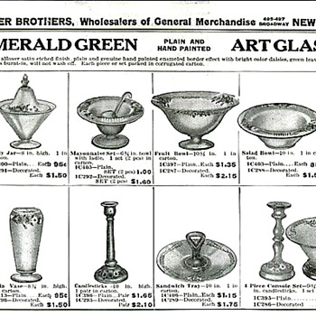 Latest Interest - the similarities of decorative glass from 1930s, as seen in the Butler Brothers Ads - Art Glass
