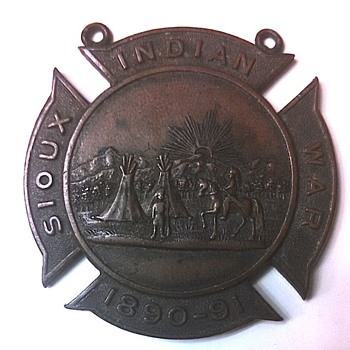 Nebraska National Guard Sioux Indian War Medal - Military and Wartime