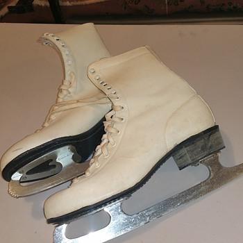 Vintage Ice Skates 1950's - Womens Clothing