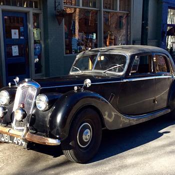 "A ""Riley"" -- British automobile, circa 1953"
