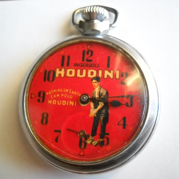 Ingersoll Harry Houdini Pocket Watch that now hopefully works. - Pocket Watches
