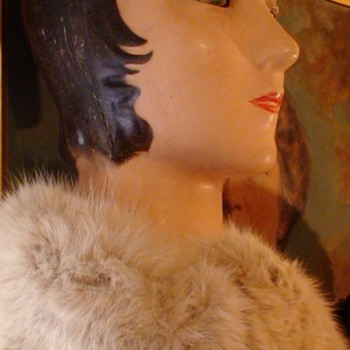 Early 1920s  Mannequin Head Glass Eyes - Art Deco