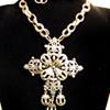 Vintage Florenza Filigree Cross Necklace