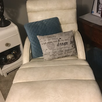 Antique Adjustable Recliner (1950-1960) - Furniture