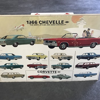 1966 Chevelle  , 1967 Camaro ,1968  Corvette new car dealer  posters   - Classic Cars