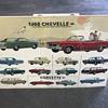 1966 Chevelle  , 1967 Camaro ,1968  Corvette new car dealer  posters