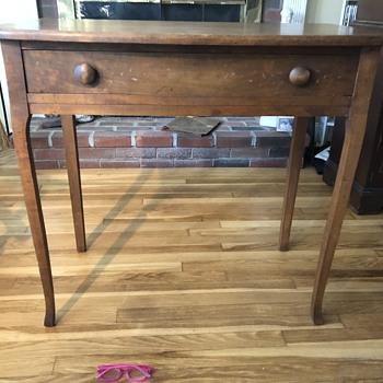 Hand made desk - missing top - Furniture