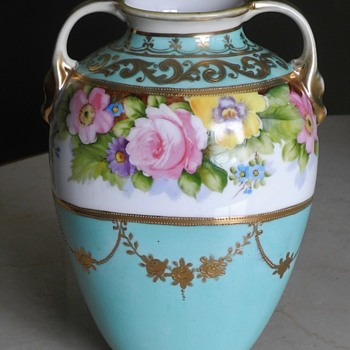Morimura Nippon handpainted vase c.1911 ? - Asian