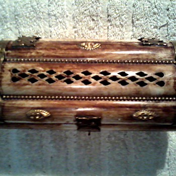 Camel Bone and Brass Jewelry Box/Made in India/ Circa 20th Century - Fine Jewelry