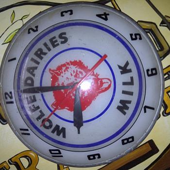 Wolfe Dairy Clock - Clocks