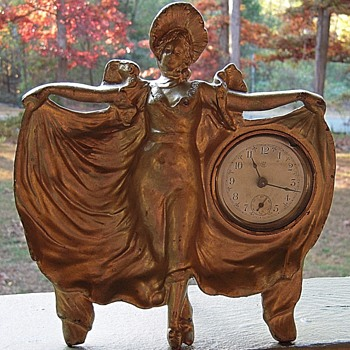 WC Victorian ??Lady Clock Ornament  - Clocks