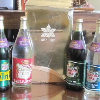 Vintage Canada Dry 1967 - Made especially for the Royal Visit celebrating 100 years of Confederation. Unopened bottles -
