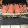 Peanut butter glasses with wire basket foldable handle