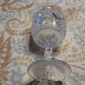 Small sherry cut glass goblet