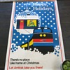 Amtrak Holiday Poster Advertisement Home for Christmas Vintage