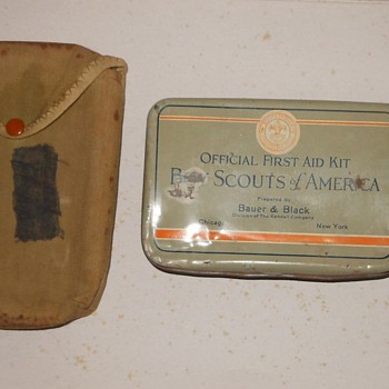 Boy Scout First Aid Kit Bauer and Black Circa 1930s - Sporting Goods