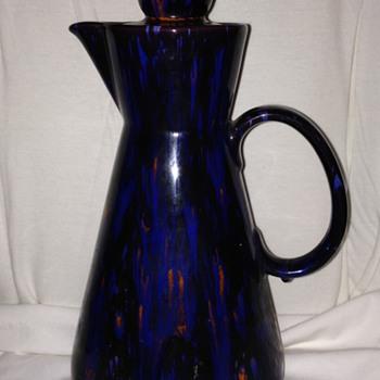 Dark Blue speckled Teapot/Pitcher
