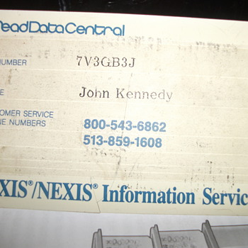 JFK DRIVER LICENSE ECT - Advertising