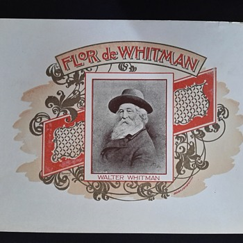 Walt Whitman cigar label - Tobacciana
