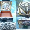 Wood-lined Art Deco Metal Box