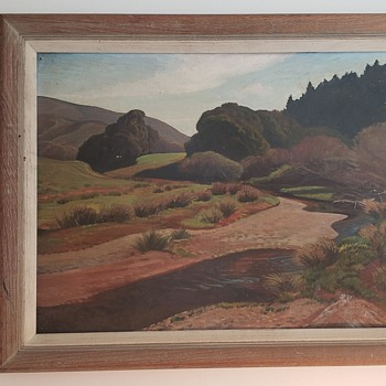 Ray Strong Landscape Oil Painting, dated 1950 - Fine Art