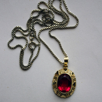 Kordes & Lichtenfels pendant  - Costume Jewelry
