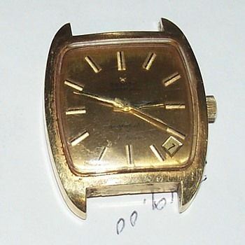 zenith watch automatic deluxe vintage x respirator gold - Wristwatches