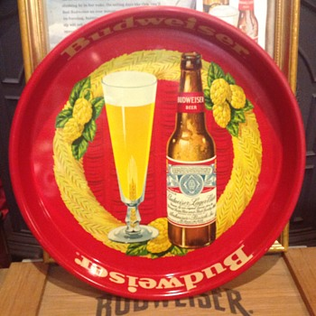 Budweiser serving tray 1940's - Breweriana