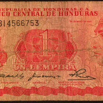 Honduras - (1) Lempira Bank Note