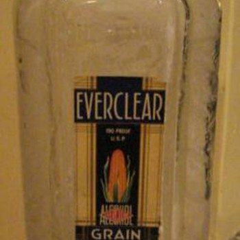 Everclear bottle found in crawl space of house - Bottles
