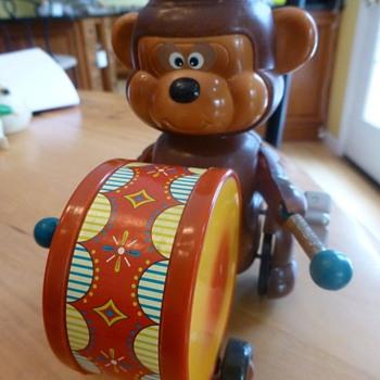 Russ Berrie Bear playing Drum