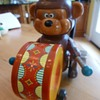 Russ Berrie Bear playing Drum