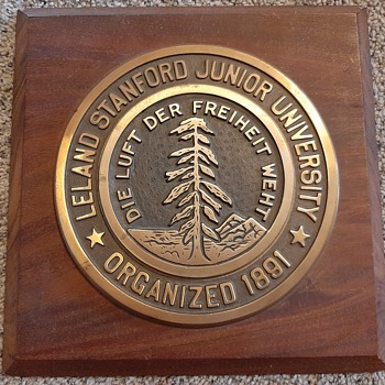 Stanford Bronze Plaque - Signs