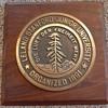 Stanford Bronze Plaque