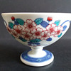 Imaemon XIV Iro-Nabeshima porcelain stem cup, Japan