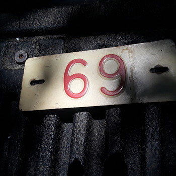 "little ""69"" steel sign - Signs"