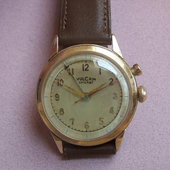 14k Vulcain Cricket Wristwatch  - Wristwatches