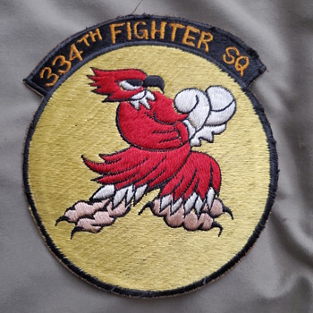 334th Tactical Fighter Squadron patch, Korean war - Military and Wartime