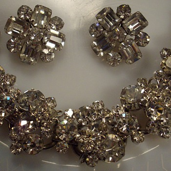 Crystal Rhinestone Juliana Bracelet & Earrings. - Costume Jewelry