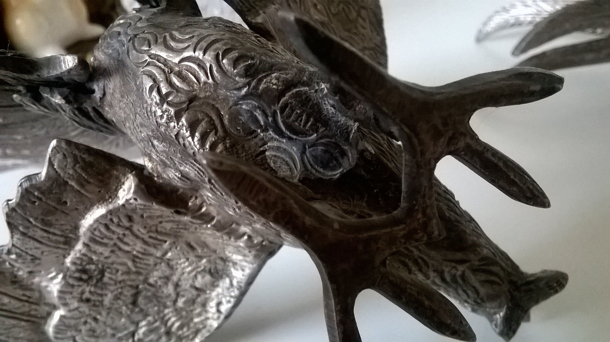 jscott0363 u003e pair of italian silver metal fighting cockerels