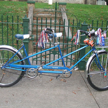 up date picture  of my 1964  schwinn   tandem   bicycle    - Sporting Goods