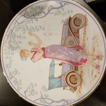 Vintage Women woth Vintage Autos - China and Dinnerware