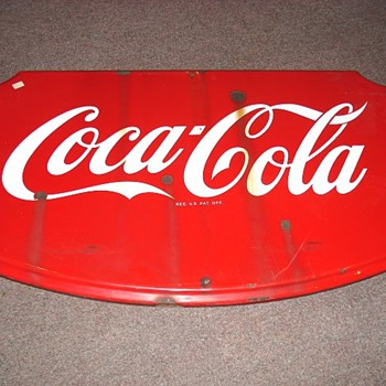 Coca Cola Metal Shield Sign 36X23 - Coca-Cola