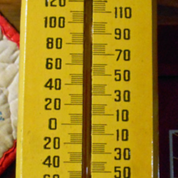 wooden thermometer - Advertising