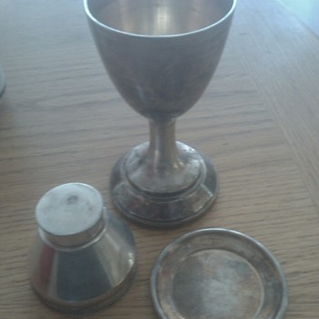 19th century communion set - Silver