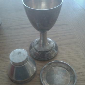 19th century communion set - Silver