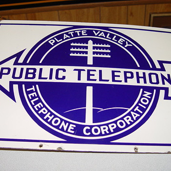 Platte Valley Public Telephone sign - Signs